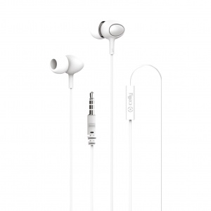 Celly in-ear oordopjes met 3.5 mm jack-aansluiting wit