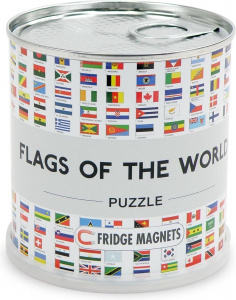 Channel Distribution magneetpuzzel Flags of the World 100 stukjes