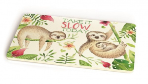 Chic.Mic brood-/snijplank Take It Slow 23,5 x 14,5 cm bamboe