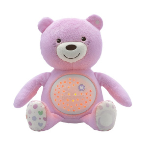 Chicco knuffelprojector Baby Bear First Dreams 27 cm roze