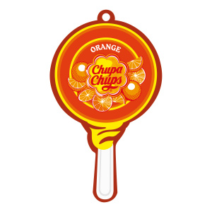 Chupa Chups luchtverfrisser Airfresh Lolly Paper Orange
