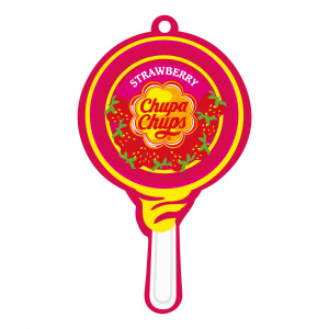 Chupa Chups luchtverfrisser Airfresh Lolly Paper Strawberry rood