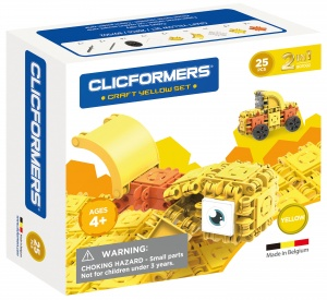 Clicformers Craft Yellow-set 2-in-1 (807001) 25-delig