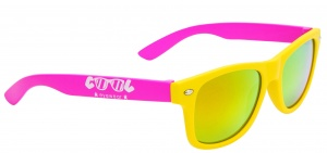 Cool Eyewear zonnebril wayfarer junior cat.3 geel/roze (005)