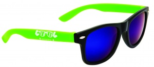 Cool Eyewear zonnebril wayfarer junior cat.3 zwart/groen (005)