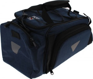 Cycle Tech bagagedragertas Classic Finesse jeansblauw 8 liter