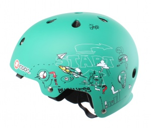 Cycle Tech helm Xcool 2.0 sketch groen maat 55-58 cm