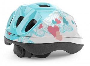 Cycle Tech kinderhelm Hartjes blauw/wit