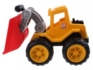 Jonotoys Exquisite Touch loader 23 cm geel/rood