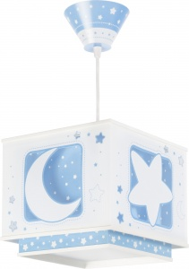 Dalber hanglamp Moonlight glow in the dark 24 cm blauw