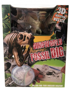 DinoWorld 3D-puzzel Fossil Dig Pterosaurus gips groen 3-delig