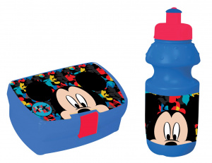 Disney lunchset 350 ml Mickey Mouse blauw/rood 2-delig