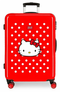 Disney kinderkoffer Hello Kitty 70 liter ABS 68 cm rood