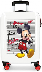 Disney kinderkoffer Mickey 70 liter 68 cm rood/wit