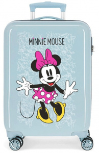 Disney kinderkoffer Minnie Mouse 33 liter ABS 55 cm blauw/roze