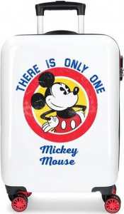 Disney koffer Mickey Magic junior 33 liter ABS wit/rood
