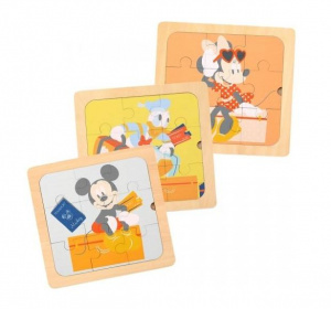 Disney legpuzzels Mickey Mouse junior 22 cm hout 3-delig
