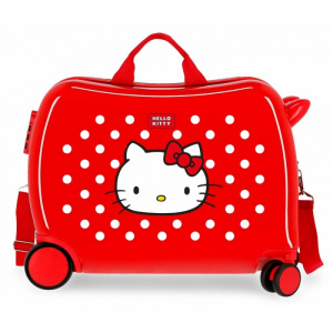 Disney ride-on-koffer Hello Kitty 34 liter ABS 50 cm rood