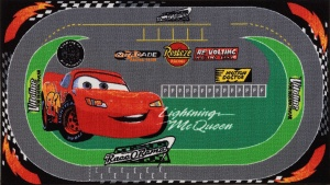 Disney vloerkleed Cars Racing 140 x 80 cm