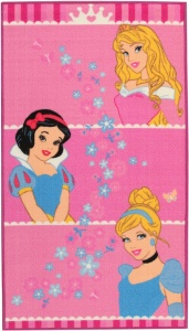 Disney vloerkleed Princess Crown 140 x 80 cm