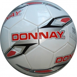 Donnay voetbal PVC wit/rood unisex maat 5