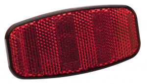 Dresco reflector 112 x 54 mm rood/zwart