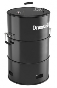 DrumGrill smoker 57 x 92 cm staal zwart 4-delig