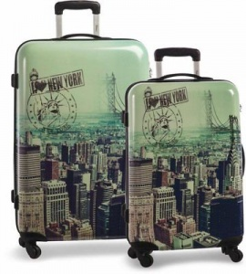 Fabrizio kofferset Big Apple 53/72 liter
