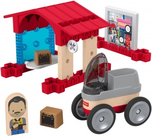 Fisher-Price bouwpakket Wonder Makers Garage hout 15-delig
