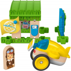 Fisher-Price bouwpakket Wonder Makers Hangar hout 15-delig
