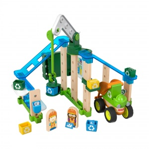 Fisher-Price bouwpakket Wonder Makers Recycling Centrum hout 35-delig