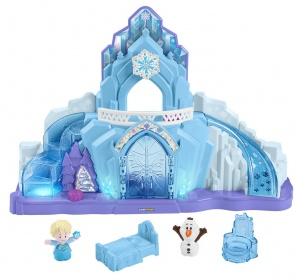 Fisher-Price Little People ijspaleis Frozen 63 cm wit/blauw 5-delig