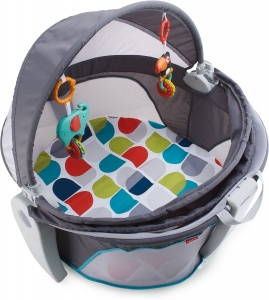 Fisher-Price On-The-Go Baby Dome junior 80 cm grijs