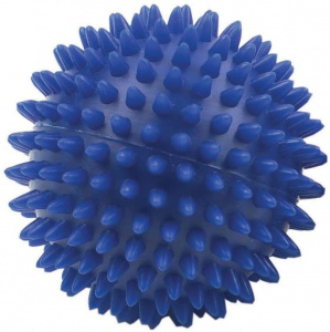 Fitness-Mad massagebal 9 cm PVC blauw