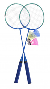 Free and Easy badmintonset blauw 5-delig