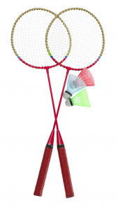 Free and Easy badmintonset rood 5-delig