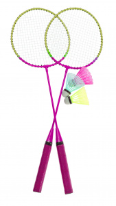 Free and Easy badmintonset roze 5-delig