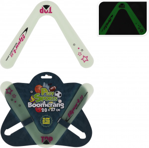 Free and Easy Glow in the dark boomerang 20 x 27 cm