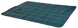 Free and Easy picknickkleed fleece 2-zijdig 130x160 cm groen