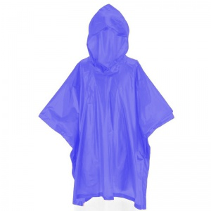 Free and Easy regenponcho junior one size blauw