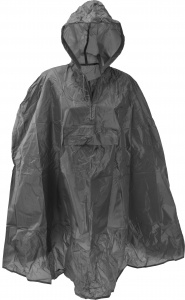 Free and Easy regenponcho one size unisex grijs