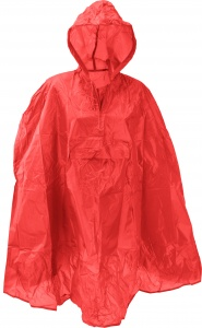 Free and Easy regenponcho one size unisex rood