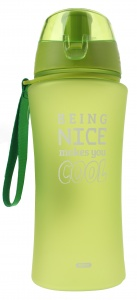Fresh & Cold bidon being nice makes you cool 480 ml groen