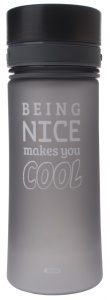 Fresh & Cold bidon being nice makes you cool 500 ml grijs