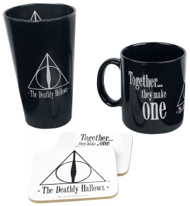 GB Eye cadeauset Harry Potter Deathly Hallows donkerblauw 22 cm