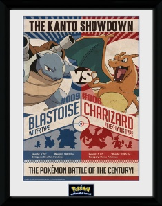 GB Eye poster in lijst Pokemon Red vs Blue 30 x 40 cm