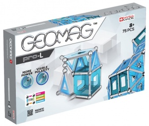 Geomag Pro-L blauw/zilver 75-delig