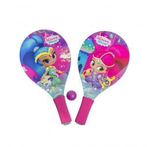 Gerimport beachballset Shimmer and Shine junior 38 cm roze 3-delig