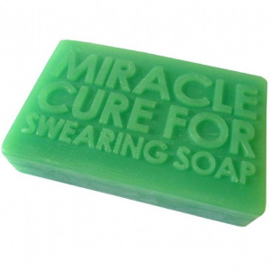 Giggle Beaver miracle cure for swearing zeep groen