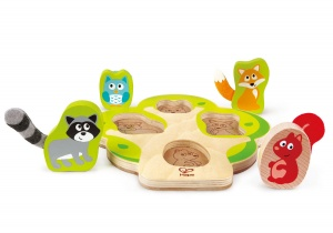 Hape houten vormenpuzzel Who's in the Tree 5-delig